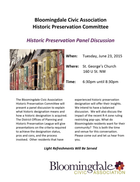Historic Preservation Committee Mtg Flyer 6 16 15