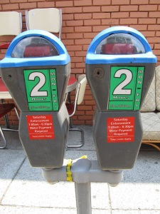 Soon, the parking meters on the 3100 & 3200 Georgia will be 2 hour meters, like these on Otis Place, NW.