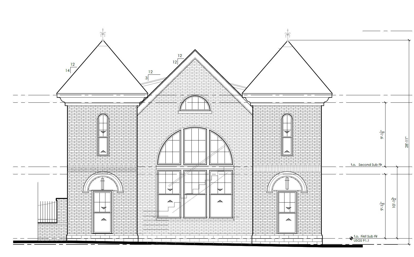 Church Elevation Plan : Plans submitted for residential conversion of pittman s