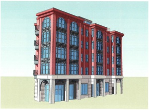 Perspective of building designed for 3701 Georgia Avenue.