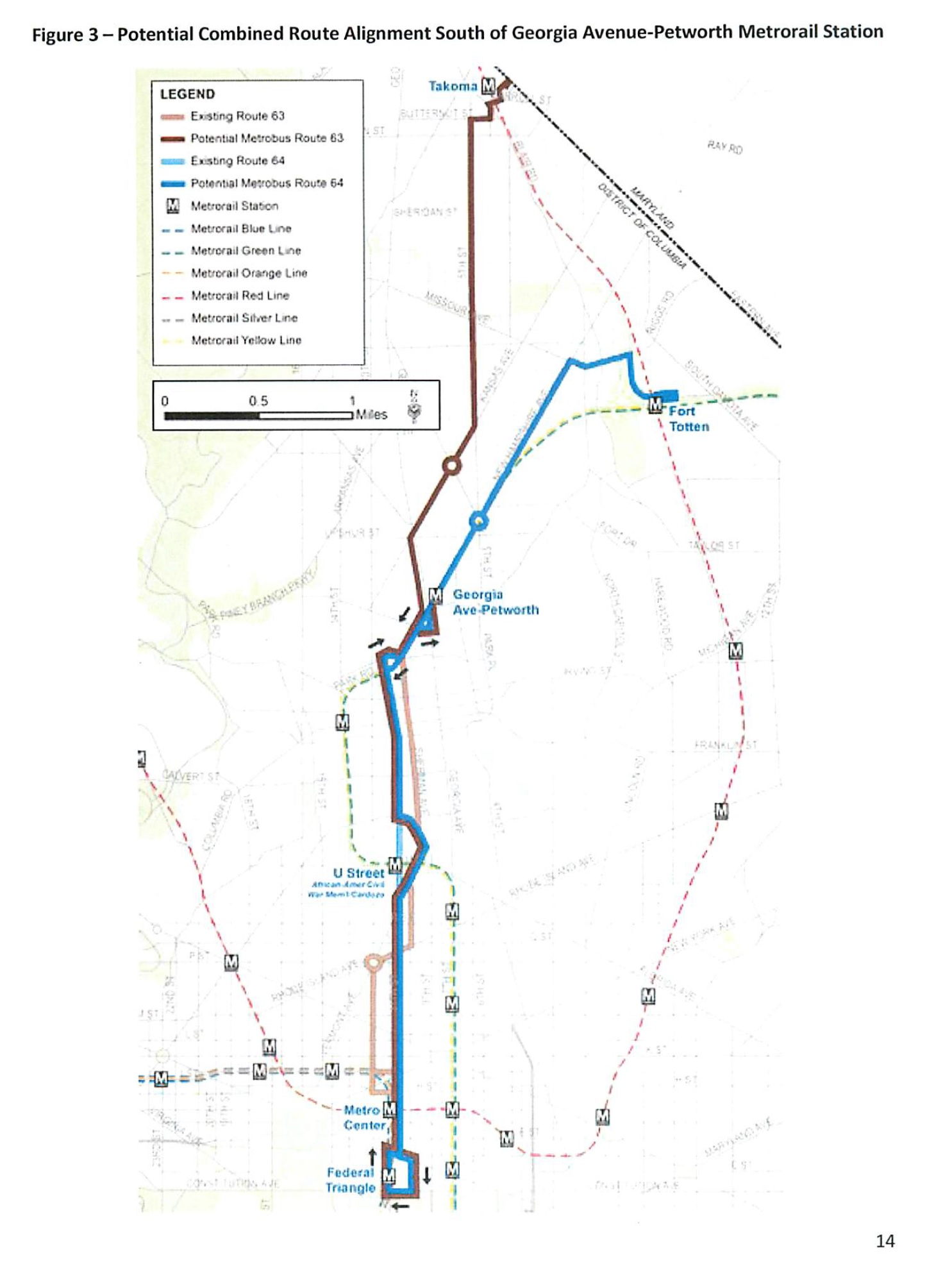 metrobus route alignment proposed for 11th street | park view, d.c.