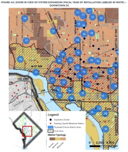Capital Bikeshare expansion map