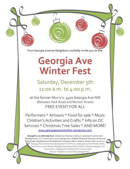 Georgia Avenue Winter Fest