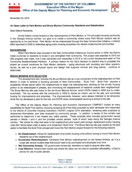 Kenner Letter page 1