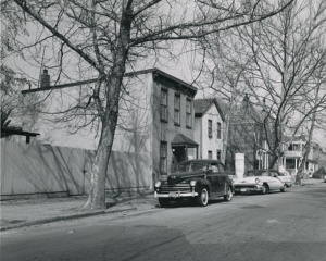 Photograph of 700 block of Morton Street in the mid-1950s taken as part of the Park Morton survey.