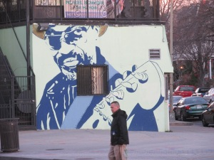 Chuck Brown mural at the old Sweet Mango.