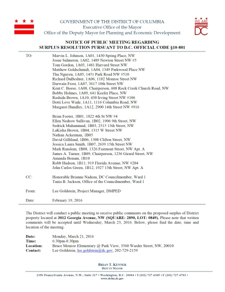 BM Disposition Notice