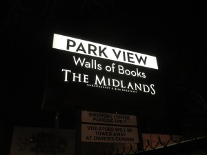 New signage for Walls of Books and The Midlands