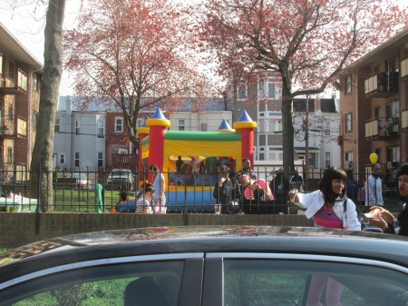 Park Morton Easter moon bounce