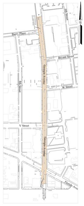 Georgia Avenue Bus Lanes