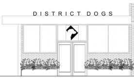 Drawing of District Dogs space at
