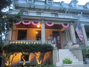 3648 Park Place, NW, in the Fourth of July spirit.