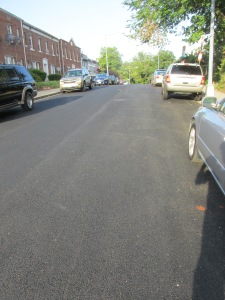 Newly paved Manor Place.
