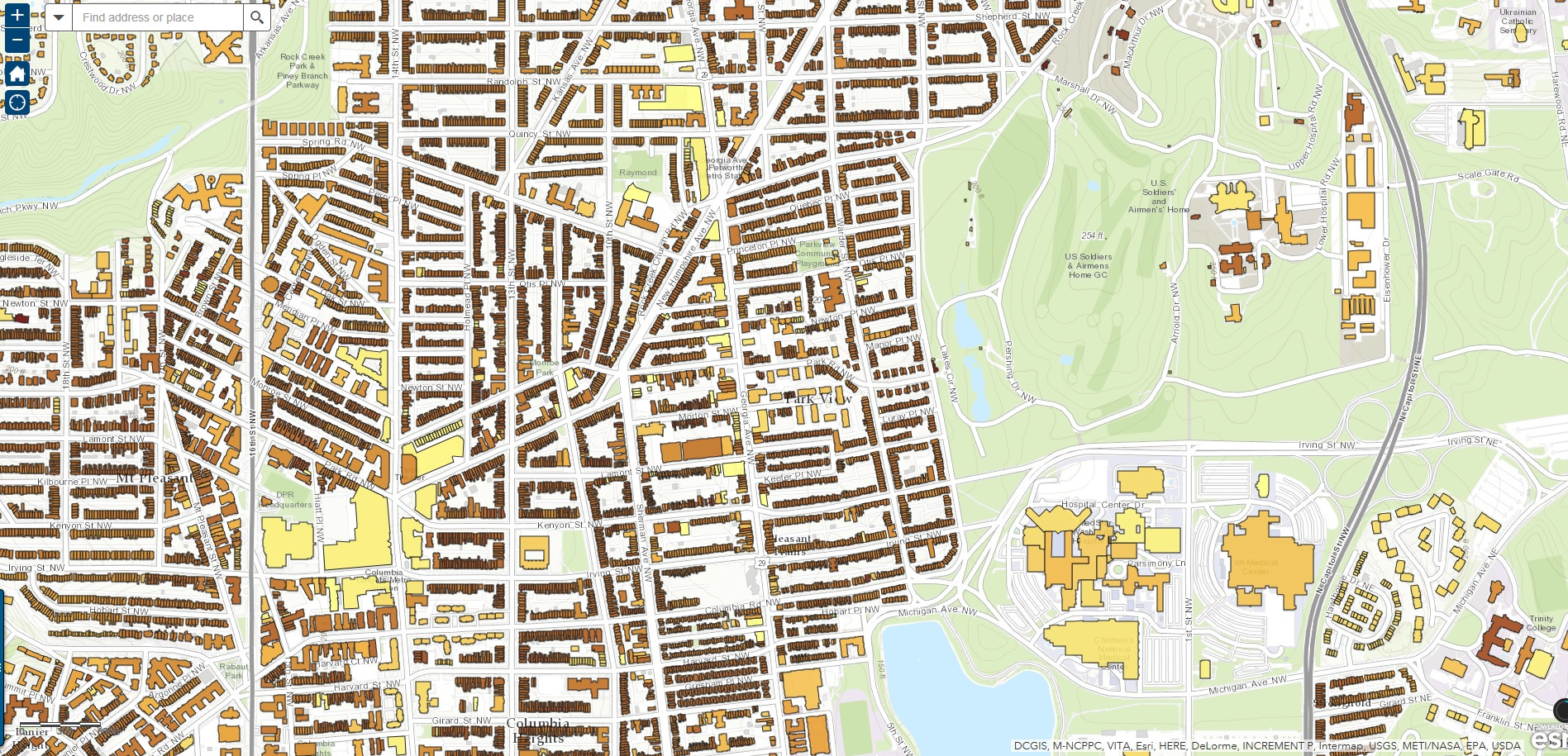 Washington Dc Neighborhood Map Washington Dc Neighborhoods Map 37