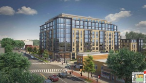 Revised design for the Park Morton apartment building at the Bruce Monroe site.