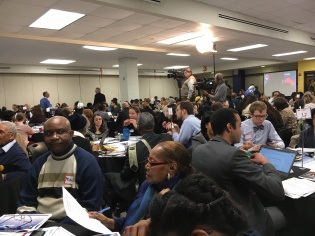 Full house at the Feb. 27th Budget Engagement Forum.