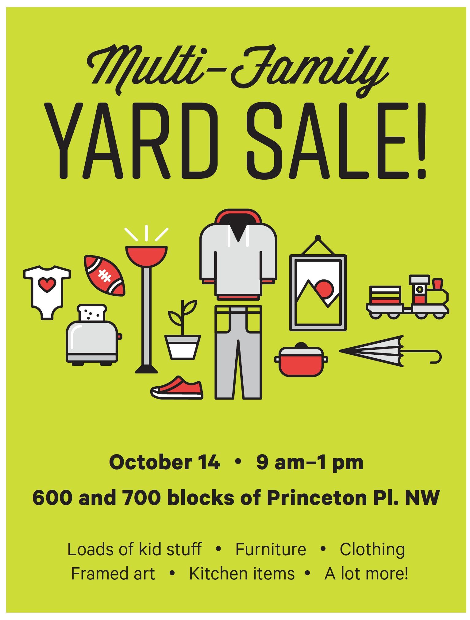 Multi Family Yard Sale On Princeton Place This Saturday